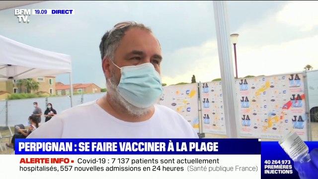 �€ Perpignan, un centre de vaccination a été installé à quelques minutes de la plage