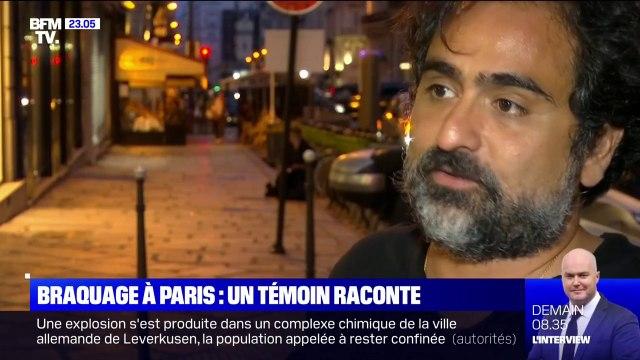 Braquage à Paris: le gérant d'un restaurant proche du lieu du braquage décrit l'incompréhension à l'arrivée des policiers