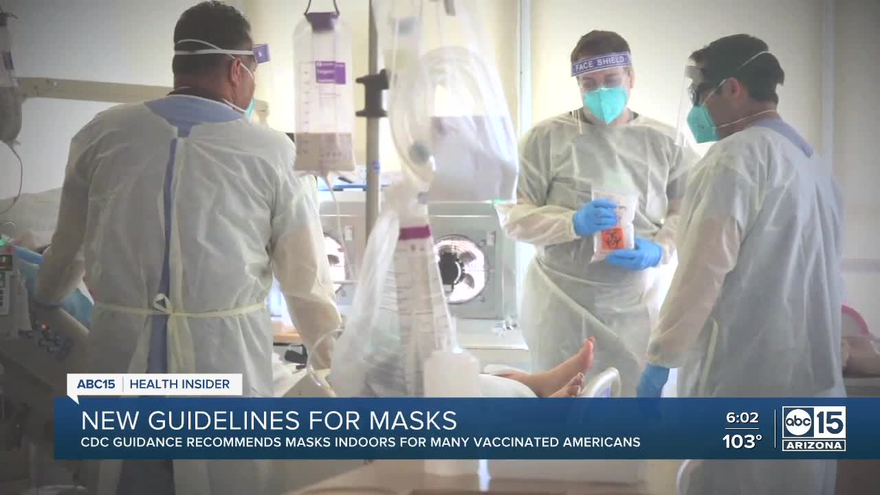CDC issues new guidelines for masks