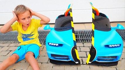 Vlad and Nikita share toys