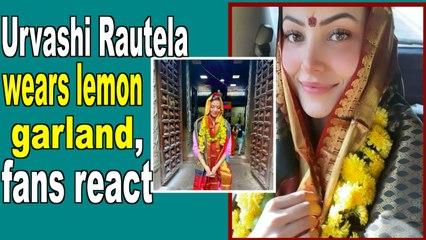 Urvashi Rautela wears lemon garland, fans react