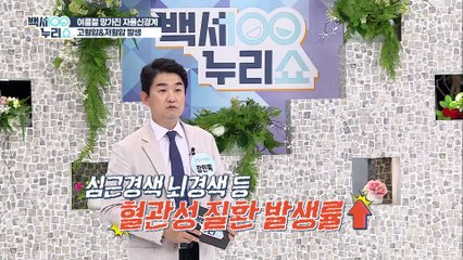 무더운 여름철 고혈압 환자가 늘어나는 이유는? TV CHOSUN 20210728 방송