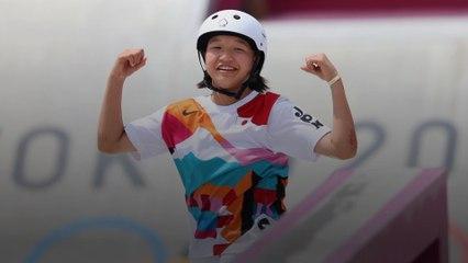 La skateuse Nishiya Momiji devient l'une des plus jeunes médaillées d'or de tous les temps