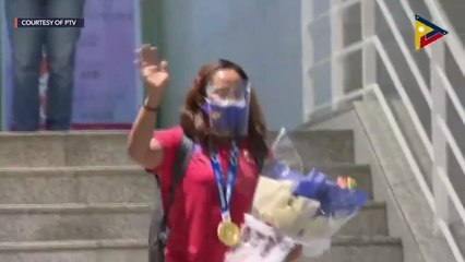 Hidilyn Diaz' homecoming to the Philippines after #Tokyo2020
