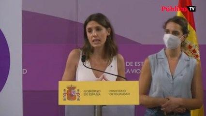 """Irene Montero presenta el 'punto violeta': """"Que las mujeres víctimas de violencia de género sepan que la sociedad está con ellas"""""""