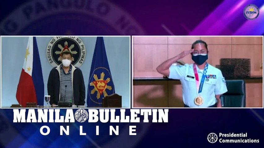 Hidilyn Diaz pays virtual courtesy call on President Duterte