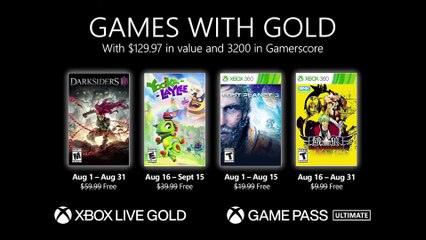 Xbox Games with Gold (August 2021)