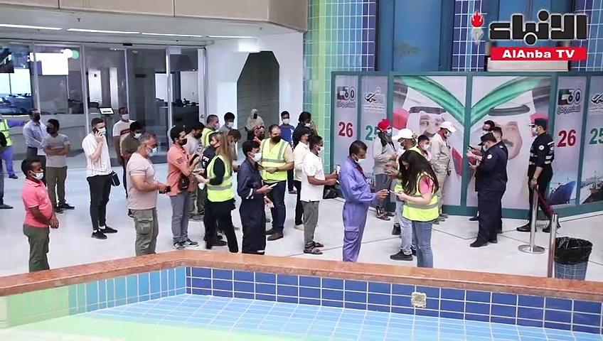 """""""الموانئ"""" دشّنت الحملة الثانية لتطعيم العاملين في ميناء الشعيبة والشركات المتعاقدة"""