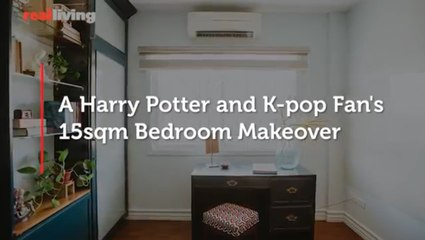 A Harry Potter and K pop Fan's 15sqm Bedroom Makeover