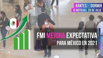 FMI mejora expectativa para México en 2021