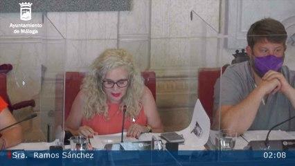 Intervención de la portavoz de Adelante Málaga, Remedios Sánchez, en el pleno de Málaga