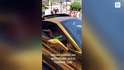 Anand Mahindra shares video of 'gold Ferrari', post sparks Twitter chatter