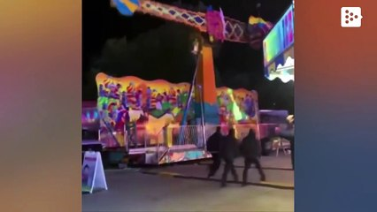 The dramatic moment an amusement park ride fails in Michigan