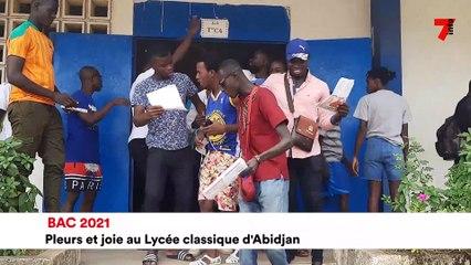 BAC 2021 pleurs et joie au lycée classique d'Abidjan - 7info