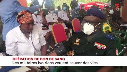Don de sang les militaires ivoiriens veulent sauver des vies - 7info