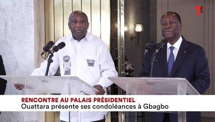 Rencontre au palais présidentiel - Ouattara présente ses condoléances à Gbagbo