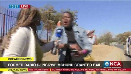Ngizwe Mchunu supporters elated after bail granted