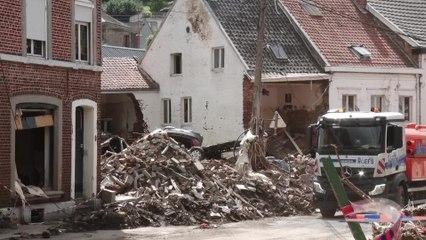 Inondations : à Pepinster dévastée, la colère monte