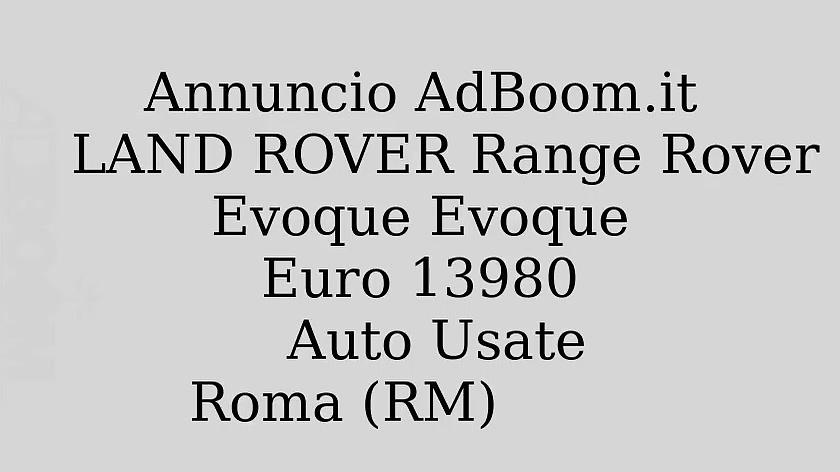 LAND ROVER Range Rover Evoque Evoque