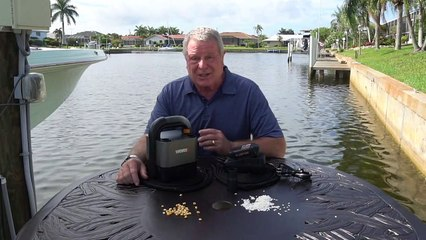 On My Dock - Worx Cube Vac for Quick Boat Cleanup