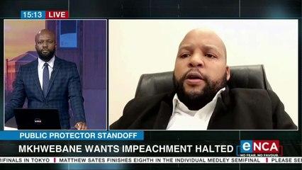 Mkhwebane wants impeachment halted