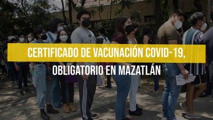 Certificado de vacunación Covid-19, obligatorio en Mazatlán