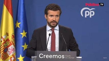 Pablo Casado cuelga las medallas a Pedro Sánchez