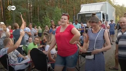 Акции протеста против палаточного городка для беженцев в Литве