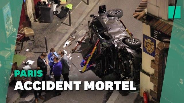 À Paris, une voiture percute une terrasse de bar: un mort et six blessés