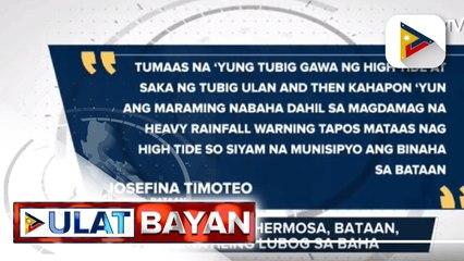 12 barangay sa Hermosa, Bataan, nananatiling lubog sa baha; 3 bayan sa Bataan, isinailalim sa state of calamity