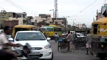 Busy streets of Karnal, Haryana