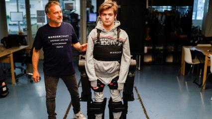 Dad Creates Exoskeleton That Allows Son to Walk Independently