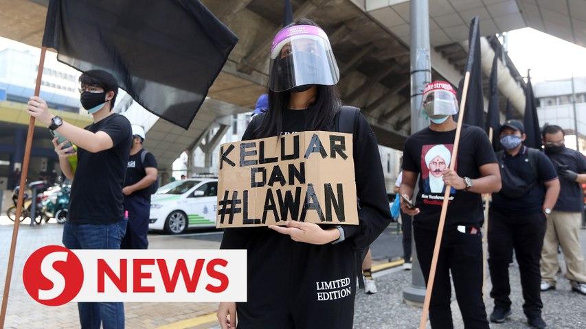 #Lawan protest gets underway as crowd marches toward Dataran Merdeka