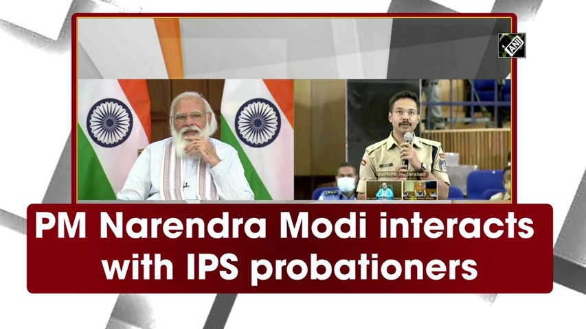 PM Narendra Modi interacts with IPS probationers