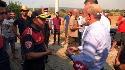 CHP heyeti yangın bölgesinde: Yaralı sansar zorlukla nefes alıyordu