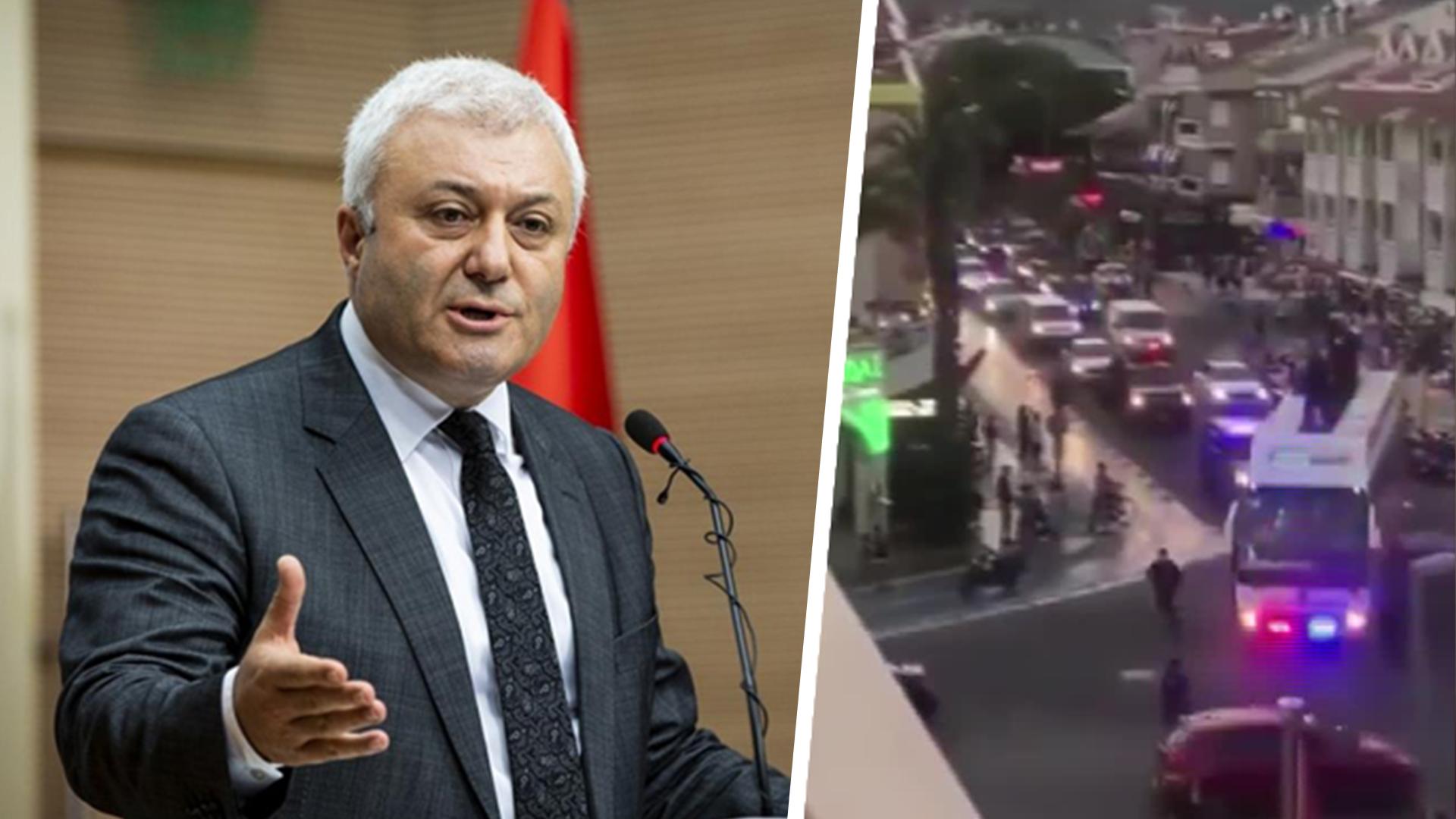 CHP'li Tuncay Özkan, Erdoğan'ın Marmaris konvoyunu paylaştı: Bir tek yangın söndürme uçağı almaya parası yok