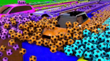 Car Parking Game 3D _ Cars Lift Parking and Color Soccer Balls Slider Animated Gameplay Videos