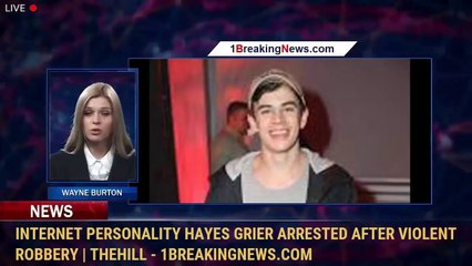Internet personality Hayes Grier arrested after violent robbery   TheHill - 1BreakingNews.com