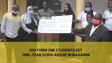 300 Form one students get one-year scholarship in Magarini