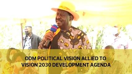 ODM political vision allied to Vision 2030 development agenda