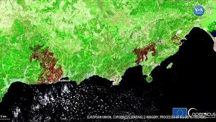Yangınların Tahrip Ettiği Alanlar Uydudan Görüntülendi