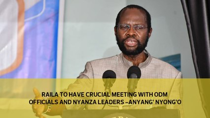 Raila to have crucial meeting with ODM officials and Nyanza leaders- Anyang' Nyong'o