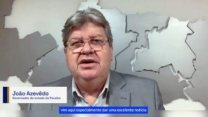 João Azevêdo destaca queda em mortes por covid na PB em julho; 107 cidades não registraram óbitos