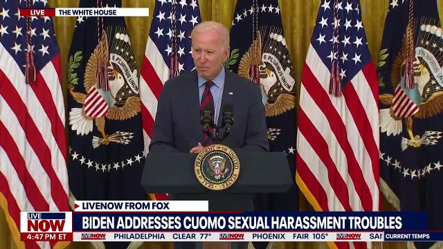 President Biden calls on Andrew Cuomo to resign, no word on if he will