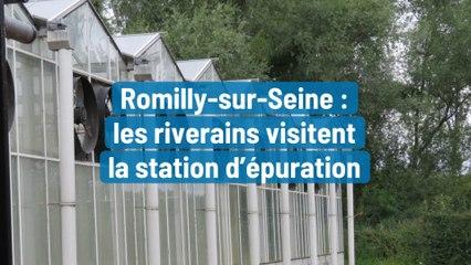 Romilly-sur-Seine :  les riverains visitent  la station d'épuration