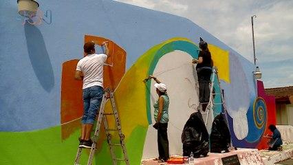 mqn-rtistas regalaron color y alegría a Hogar de Ancianos-040821