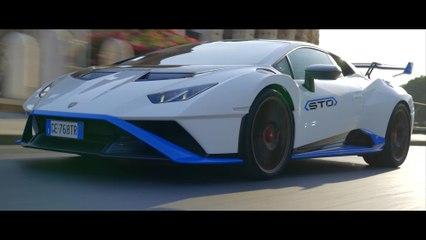 La Lamborghini Huracán STO può finalmente scatenarsi nella prima prova di guida a Roma e all'autodromo Piero Taruffi di Vallelunga