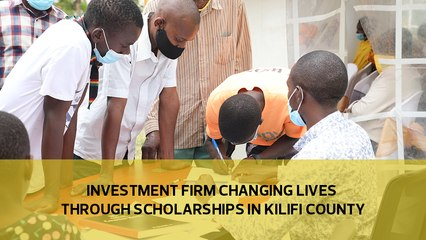 Investment firm changing lives through scholarships in Kilifi county