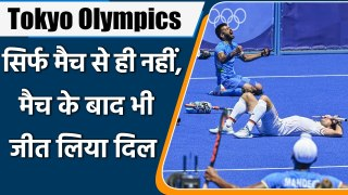Tokyo Olympics 2021: Indian Hockey Team gave Tribute to COVIED-19 Warriors | वनइंडिया हिन्दी