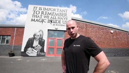 Inspirational murals created at Wigan school